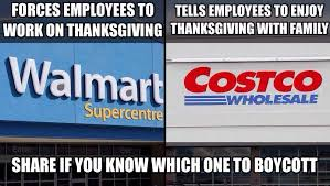 Costco Meme - so which big retailers are open on thanksgiving and is that a good