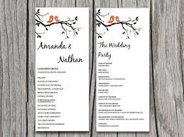 wedding ceremony program template word microsoft word wedding program templates template
