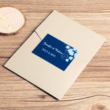 affordable pocket wedding invitations navy blue floral silver pocket wedding invitations ewpi035 as low