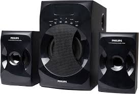 Best Looking Speakers Philips Mms 4040f 94 2 1 Channel Multimedia Speaker System Black