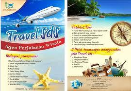 cara membuat brosur makanan contoh brosur travel agent wisata menarik