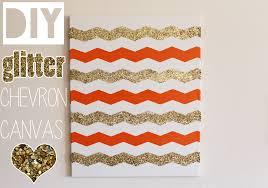 diy glitter chevron canvas home decor tutorial video