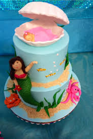 mermaid theme baby shower cake baby shower pinterest shower
