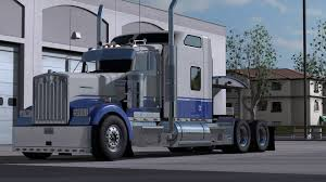 w900 kenworth w900 blue u0026 gray skin mod ats american truck simulator