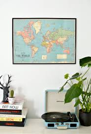 Diy World Map by Diy World Map Wall Art Burkatron