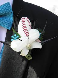 boutonniere prom bobby and s prom with baseball boutonniere sports