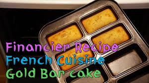 eng sub financier recipe gold bar shaped almond cake the