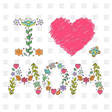 mothers day card i love mom floral mother u0027s day card vector clipart image 97428