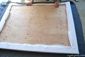 Diy Headboard Fabric Diy Headboard Wood And Fabric Home Design Ideas