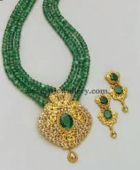 long bead chain necklace images Lovley emerald beads long chain indian jewelry pinterest jpg