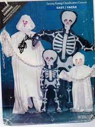 butterick halloween costumes butterick pattern 5872 skeleton and ghost ghoul costumes for