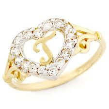 Geode Ring Box 14k Gold Heart Shape Letter U0027t U0027 Initial Cz Ring Jewelry Things I