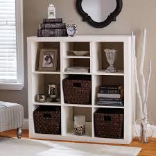 walmart wood shelves stylish white storage cubes with rattan baskets design for storage
