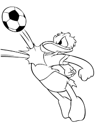 donald duck playing soccer coloring soccer coloring pages