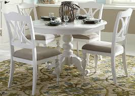 house oyster white antique round pedestal dining room set