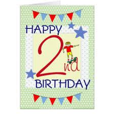 2 year old birthday boy greeting cards zazzle