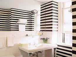 black and white wallpaper for bathroom home design