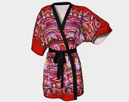 kimono robe de chambre pyjamas peignoirs et robes de chambre pour femmes etsy ca