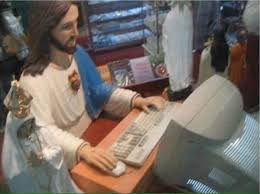 Sick Child Meme - jesus checking if the facebook photo has enough likes to save the