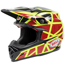 motocross helmets ebay bell new 2017 mx moto 9 carbon flex strapped fluro yellow red