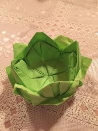 Lotus Blossom Origami - how to fold paper napkins into a lotus blossom flower snapguide