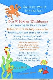 the sea baby shower invitations co ed shower invitation sea baby party waves