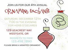 ornament gift cookie exchange invitation by