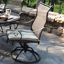 Swivel Patio Dining Chairs Meadowcraft Alexandria Swivel Patio Dining Chair Reviews Wayfair