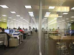 Interior Partition Long Interor Office Design With Wall Panel Partition In Loan