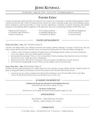Career Goal Example For Resume by Pastry Chef Resume Ilivearticles Info
