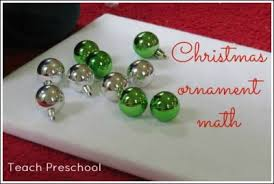 christmas ornament math teach preschool