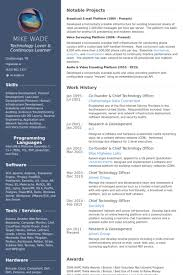 Vmware Resume Examples by Chief Technology Officer Resume Samples Visualcv Resume Samples