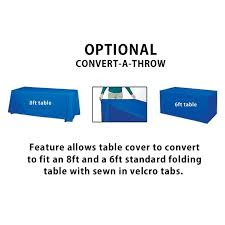 6ft Imprinted Table Cover Custom 6 U0027 Table Cover 1 Color Imprint