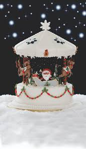impress friends and family with this fab carousel christmas cake