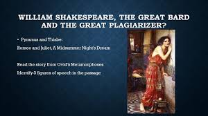 theme of romeo and juliet and pyramus and thisbe pyramus and thisbe ovid s metamorphoses words coined by shakespeare