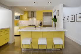 kitchen yellow kitchen island with cubical top stool also metal