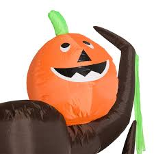 halloween airblown inflatables clearance homcom 8 u0027 haunted tree with jack o lantern pumpkins halloween led