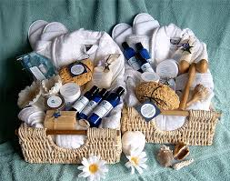 send a gift basket for the bridal shower you can send a spa gift basket to the