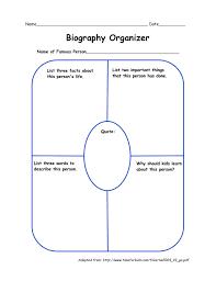 free biography graphic organizer 4th grade best photos of biography graphic organizer template 2nd grade