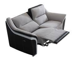 canapé relaxant canapé 2 places relax gris et noir en tissu mozart canapé relax
