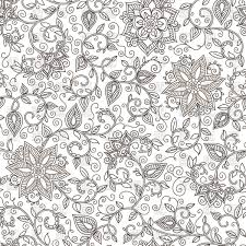 seamless floral pattern of spirals swirls and doodles royalty