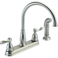 brushed nickel faucets kitchen delta brushed nickel single handle bathroom faucet how to replace