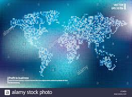 World Map Vector Dotted World Map Vector Illustration Business Concept About World