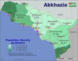 map of abkhazia abkhazia country data links and maps of the population density by