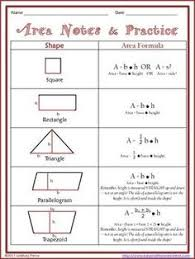 printable area change printable area of parallelogram worksheet teacher stuff