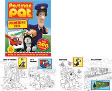 postman pat colouring book ebay