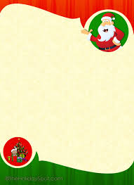 christmas letter border templates card word template free xmas