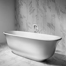 freestanding bathtub oval composite amiata by menghello