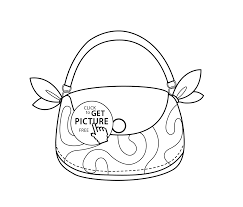 fashion bag coloring page for girls printable free
