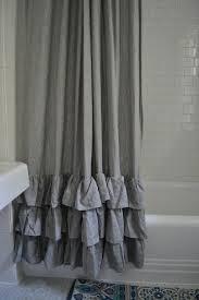 Cream Ruffle Curtains Bathroom Awesome Grey Shower Curtain For Bathroom Decoration